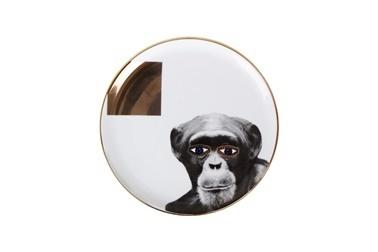 Porland Wild Life Monkey Düz Tabak 20Cm Renkli